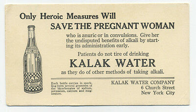 Kalak Water blotter - only heroic measures will save the pregnant woman