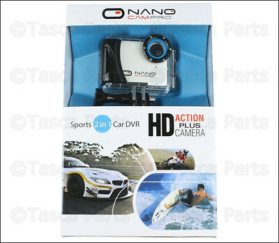 New 720P 2-In-1 Sport & Car Dvr Nanocampro Hd Action Waterproof Camera