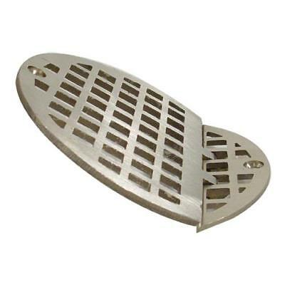 "Commercial - Hinged 4 5/8"" Round Brass Floor Drain Strainer Cover"