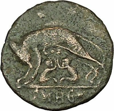 """Constantine I The Great Ancient Roman Coin Romulus & Remus """"Mother"""" wolf i40085"""