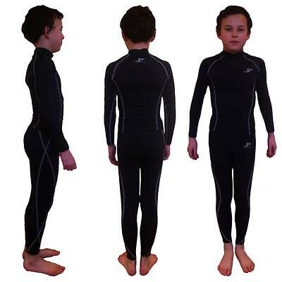 Youth Childrens Baselayer Sports Skins matching set - Top Pants Shirt Unisex