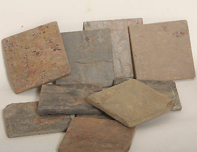 "Multicolor Natural Slate Tile 4""x4"""