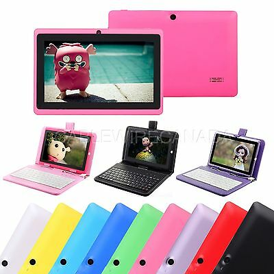"""7"""" Google Android 4.4 A33  WIFI Quad Core Dual Camera 8GB Tablet & Keyboard"""