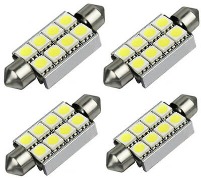 4x 42mm 5050 8 SMD LED Soffitte Canbus weiß Auto 12V 3W Innen Deutsche Post