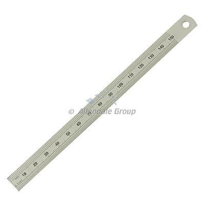 "Steel Rule 150mm/ 6 "" Dual Sided Flexible Ruler Moore and Wright Metric Inch"