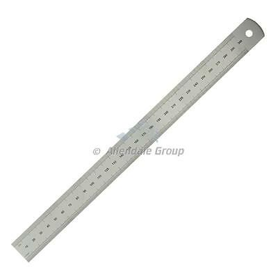 "300mm/ 12"" Rule Moore and Wright Precision Steel Ruler Metric/ Imperial ER112"