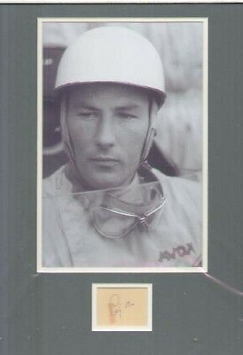 Stirling Moss Signed Autograph