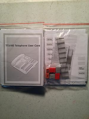 NEW Nortel Norstar Meridian T7316E Lit Button Pack Labels User Card Plastics