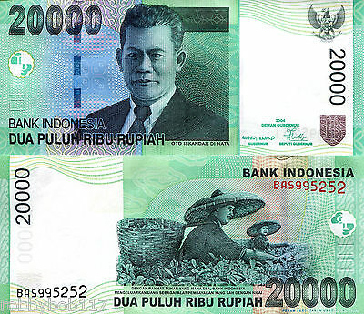 INDONESIA 20000 Rupiah Banknote World Money UNC Currency Asia Bill p144b Note