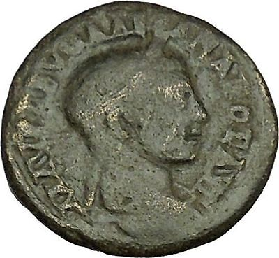 Severus Alexander Nicaea  Ancient  Roman Coin 3 legionary standards i40095
