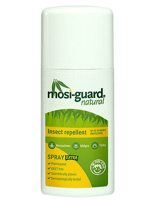 2 x NEW Mosi Guard (MosiGuard) EXTRA Natural 10 Hr Mosquito Repellent Spray 75ml
