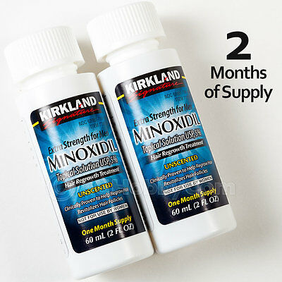 2 MONTH Kirkland Extra Strength Minoxidil Topical Solution USP 5% Hair Regrowth