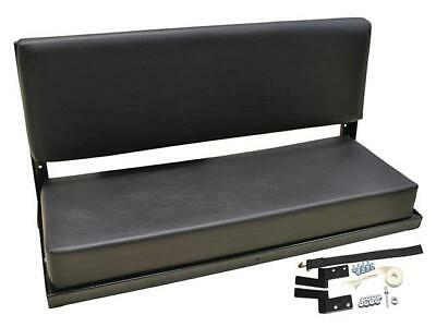 Pair of Land Rover Series & Defender 2 Man Folding Rear Bench Seat - Black Vinyl