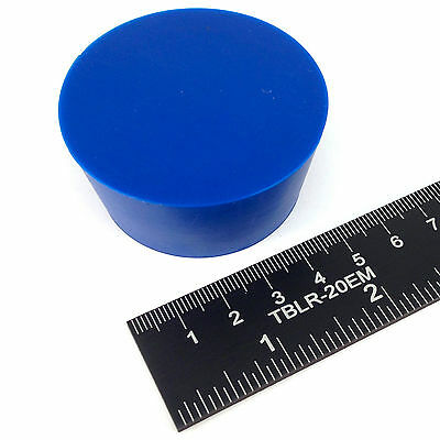 "(1) 1 7/8"" x 2 13/64"" #11 High Temp Silicone Rubber Plug Powder Coating Paint"