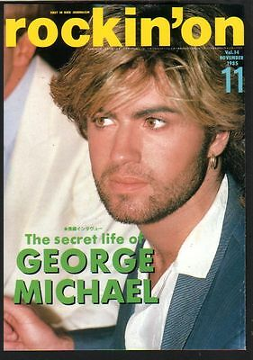 1985 George Michael Wham! JAPAN magazine COVER ONLY for framing / great photo