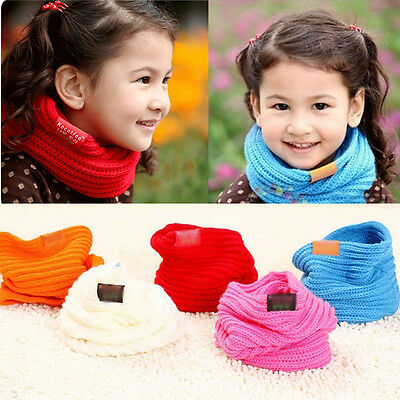 1x Kid Candy Colorful Scarves Boy Girl Winter Neck Warmer Childrens Baby Gift HG