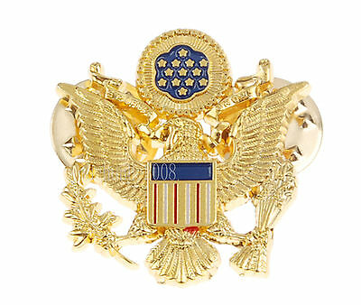 Wwii Us Army Officer Shoulder Eagle Small Badge Insignia Pin Gold-34056