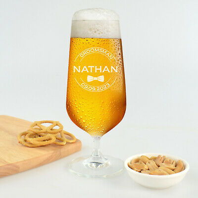 Personalised Favours Engraved Bridal Beer Goblet / Wedding Toasting Chalice Gift