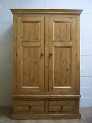 Old Rustic Antique Style Reclaimed Solid Pine Wardrobe Handwaxed