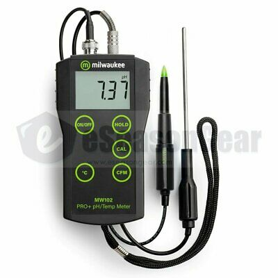 Milwaukee MW102 + MA920 pH/°C Meter Probe - for Food Meat Cheese Dairy Products