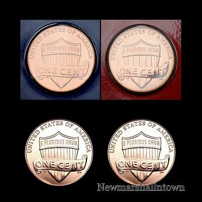 2014 P+D Lincoln Shield Penny Set ~ PD from Mint Set and Bank Roll  ~ No S Proof