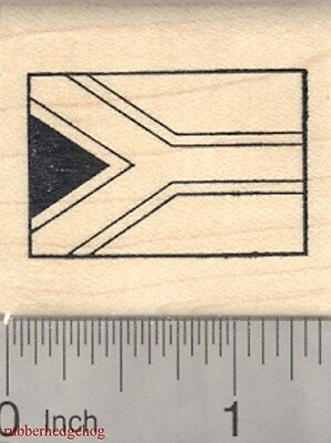 Hinomaru Flag of Japan Rubber Stamp Circle of the Sun Nisshoki  D18503 WM