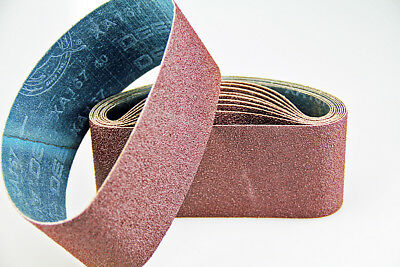 "Ten Sanding Belts 100x610mm (4x24"") 40grit. Industrial cloth backed. ABRB424040"