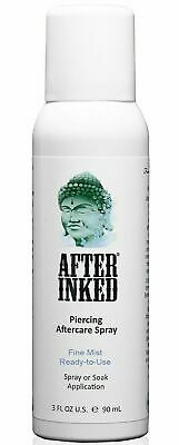 After Inked Piercing Spray Healing Body Mouth Piercings Aftercare Saline