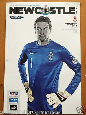 Newcastle United V Cardiff City (03/05/2014) *Tim Krul Special* (Marked Cover)