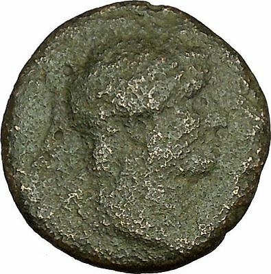 Hadrian Bisexual Emperor 134AD Ancient Roman Coin Fortuna Wealth Cult  i40220
