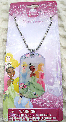 Disney Kids Princess and Friends Dog Tag Necklace Birthday PARTY FAVORS-NEW!