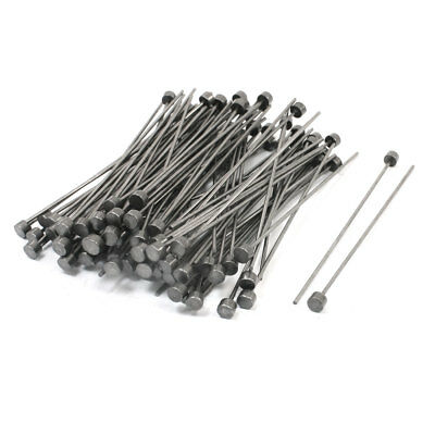 Mould Manufacturing 6mm Tip 1.5mm Shank Straight Ejector Pins 100 PCS