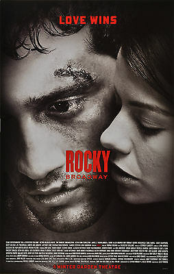 Rocky The Musical Broadway Window Card - Andy Karl