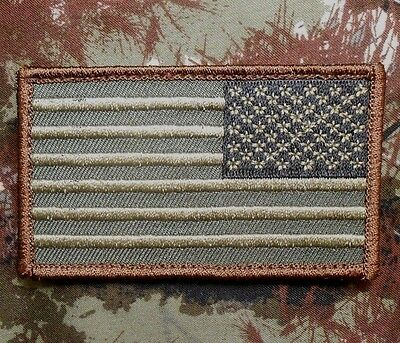 USA AMERICAN REVERSE FLAG TACTICAL US ARMY MORALE MILITARY FOREST VELCRO PATCH