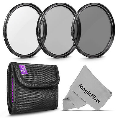 52MM Photography Filter Kit UV, Polarizer CPL, ND4 for Nikon by Altura Photo®