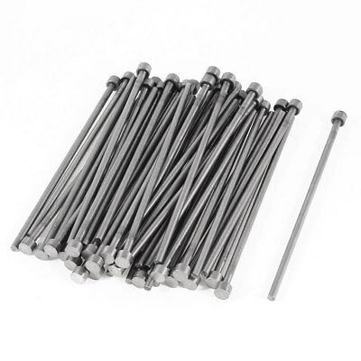 50 Pcs 6mm Diameter Round Tip Steel Straight HSS Ejector Pin