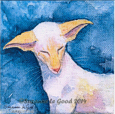 Limited Edition  Siamese Cat Painting Print From Original By Suzanne Le Good