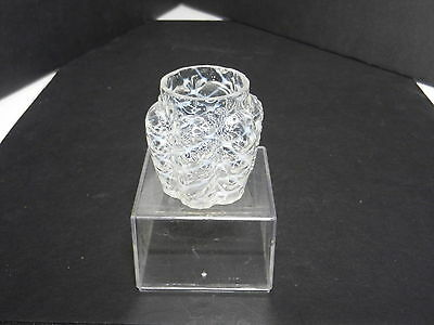 """Northwood Paneled Sprig Art Glass Toothpick Opalescent Clr EAPG 1 5/8"""" T ca 1889"""