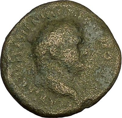 VESPASIAN 75AD Ancient Big RARE Roman Coin Clasped hands Winged Caduceus i40264