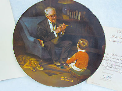 "1982 Knowles Norman Rockwell ""The Tycoon"" Collector Plate ~ Brand New!"