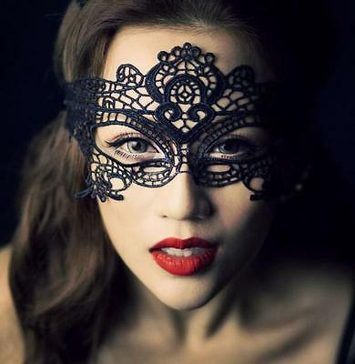 Sexy Black Lace eye mask - Costume Party -  Fancy Dress - Ladies Masquerade Ball