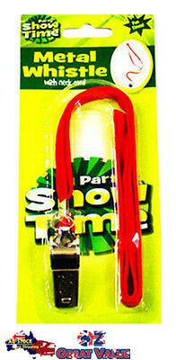 Party Show Time Metal Whistle With Neck Cord - Soccer | Training | Football