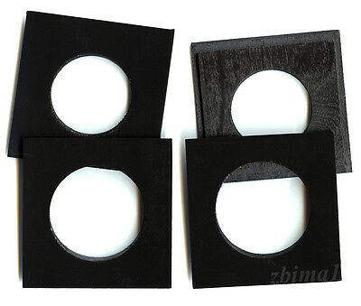 """1 LENS BOARD 3 3/4"""" x 3 3/4"""" made of Plywood 3/8"""" thick, Black,  #0,1 or  ø free"""
