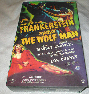 SIDESHOW FRANKENSTEIN MEETS THE WOLF MAN 12 INCH MISB UNIVERSAL STUDIOS MONSTERS