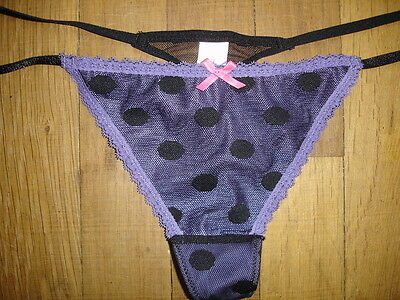 String ficelle F taille 42/44 = M/L  nylon dentelle coupe très sexy gay inte