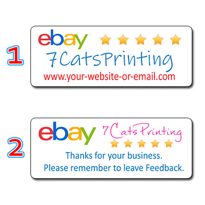 Personalized eBay Seller Thank You Stickers Custom Vibrant Labels