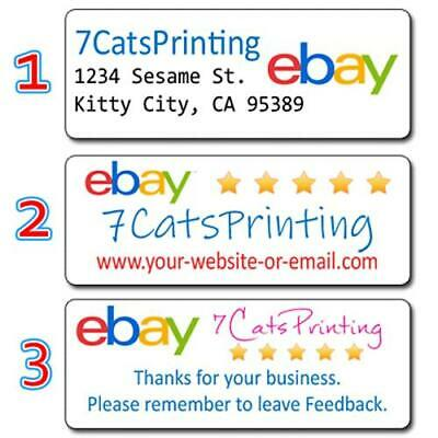 Custom eBay Seller Return Address Labels Stickers Personalized -Buy 3 get 1 Free