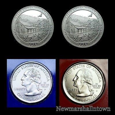 2014 P+D+S+S Smoky Mountains Tennessee ATB National Park Mint Proof Set of Four