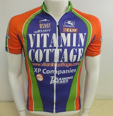 Giordana Fit For Fashion Vitamin Cottage Full Zip Cyling Bike Jersey Men s  Small 86ccd4c25