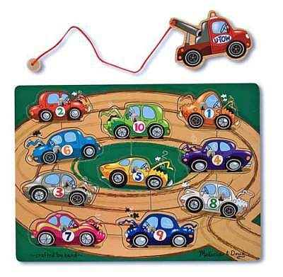 TOW TRUCK MAGNETIC PUZZLE GAME # 3777 ~ Melissa & and Doug
